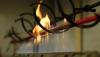"""Установка для испытания электрических и оптических кабелей в условиях воздействия пламени """"Огнестойкость кабеля"""" ( в т.ч. камера испытаний)"""